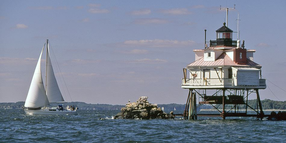 this is a Chesapeake Bay lighthouse